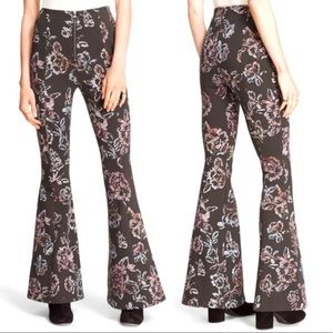 Free People Born To Be Wild Printed Bell Bottoms
